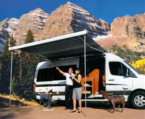sportsmobile awning sportsmobile custom cer vans sprinter exterior options