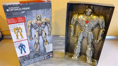 Exlusive Mainan Figure Transformers Aoe Optimus Prime Leader transformers 4 aoe silver optimus prime exclusive 12 inch figure unboxing big