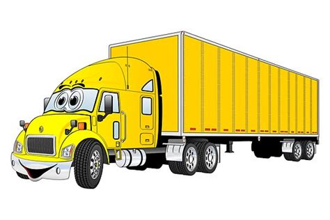 T Shirt Big Truck Yellow quot semi truck yellow trailer quot by graphxpro redbubble