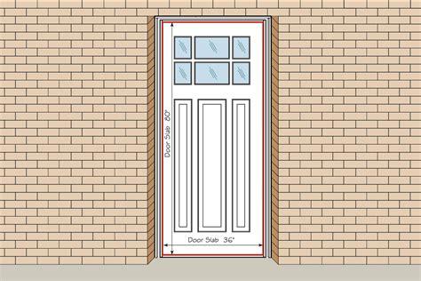 measure  front entry doorfront  interior