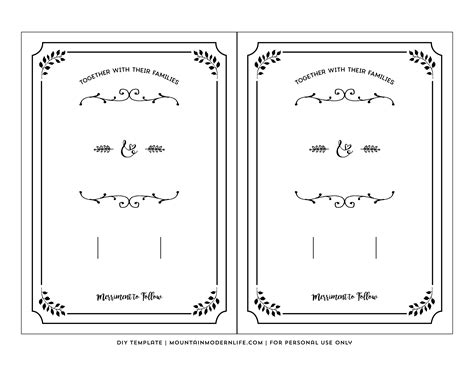 personal card templates for use with word free printable wedding invitation template