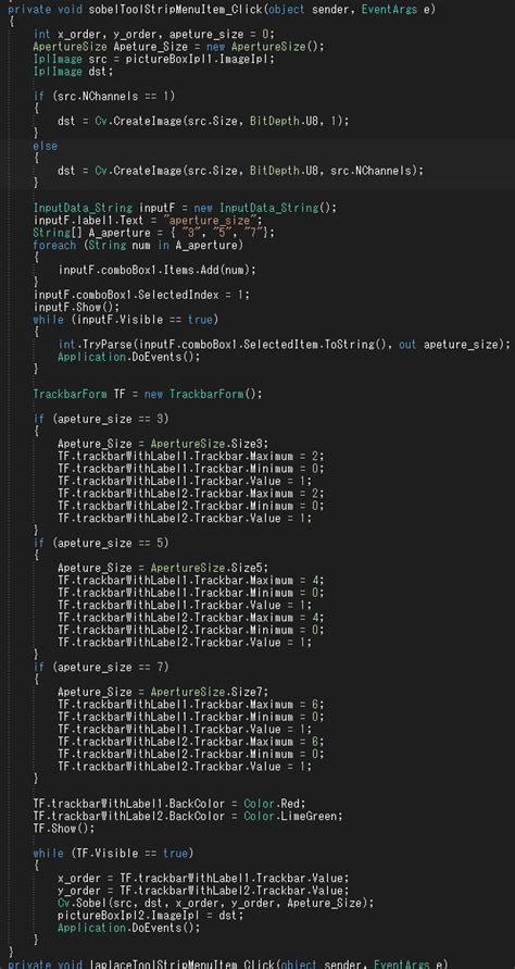 Bc Sobel エッジ抽出実装 gui画像処理プログラミング opencv visual studio clr and c