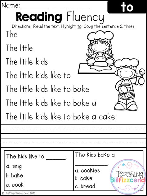 printable reading worksheets for 1st grade free first grade reading fluency and comprehension
