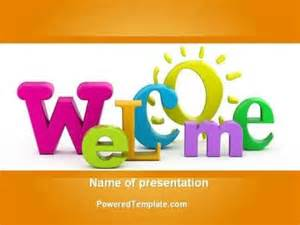 Welcome Template by Welcome Powerpoint Template By Poweredtemplate