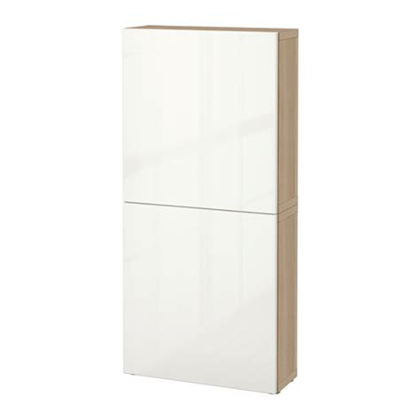 ikea besta cupboard best 197 wall cabinet with 2 doors white stained oak effect