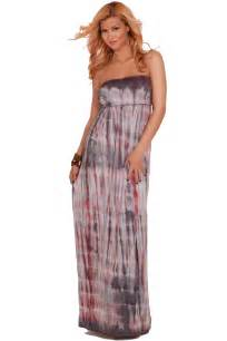 strapless empire waist casual tie dye loose long summer