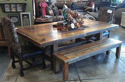 Reclaimed Wood Dining Room Sets by Bradley S Furniture Etc Utah Rustic Dining Table Sets