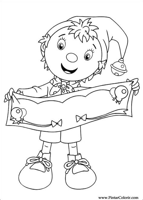 noddy coloring pages games drawings to paint colour noddy print design 015