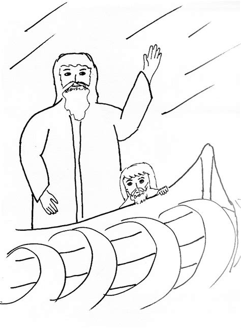 Coloring Page Jesus Calms The by Bible Story Coloring Page For The Apostles And The