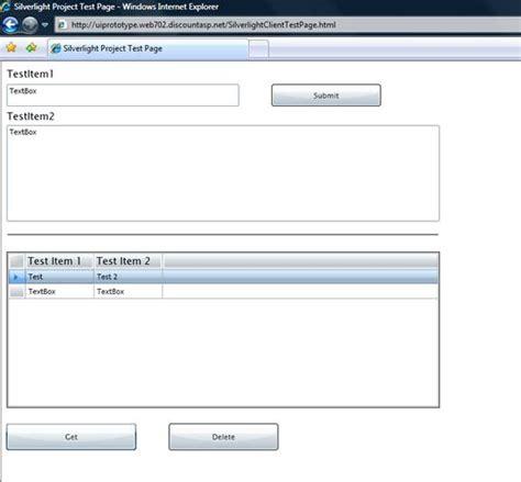 xamarin wcf tutorial silverlight tutorial creating a data centric web