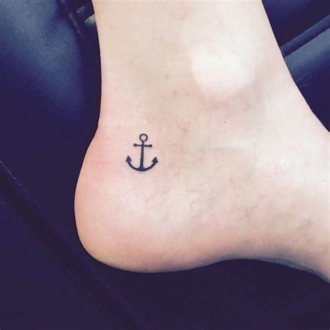 small anchor on inner ankle style