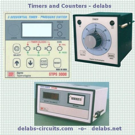 Timer Counter Digital digital timers counters and clocks delabs