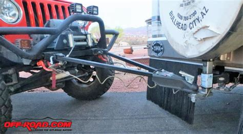 flat tow bar installation for jeep wrangler road
