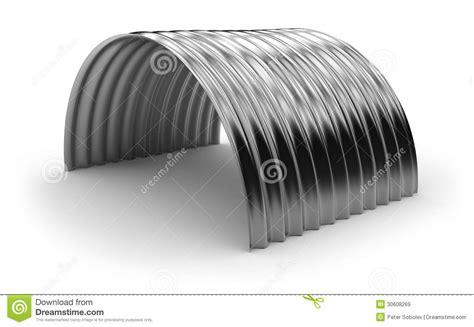 curved sheet metal curved corrugated metal sheet stock illustration image