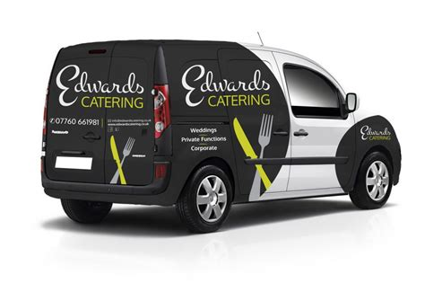 van graphics design edwards catering vehicle graphics design image