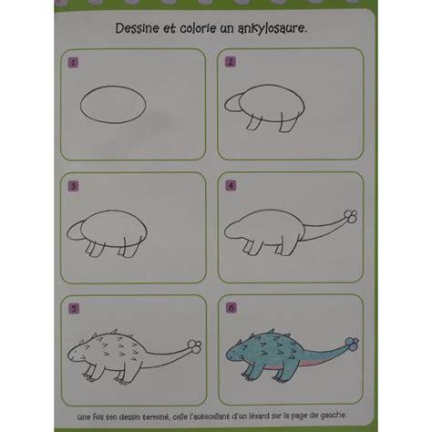 1409588343 je dessine pas a pas je dessine pas 224 pas les dinosaures un bloc 224 dessin et