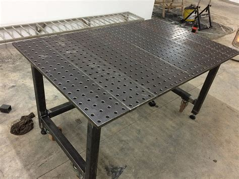 how to build a welding table welding table build mig welding forum