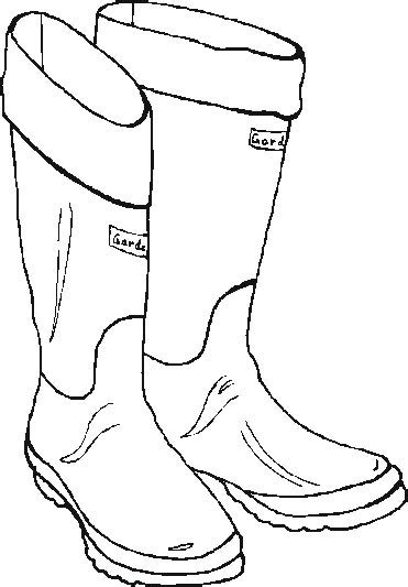 free santa boot outline coloring pages