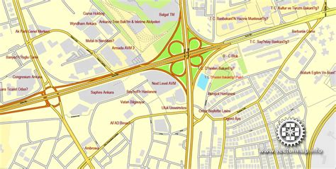 printable turkey map ankara turkey printable vector street city plan map