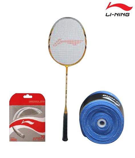 li ning ts 50 badminton racket li ning string ap 70 li ning grip gp 13 buy at best