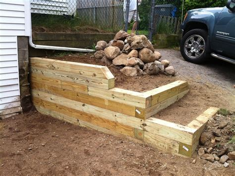 custom pressure treated retaining walls by live edge woodcrafts custommade com
