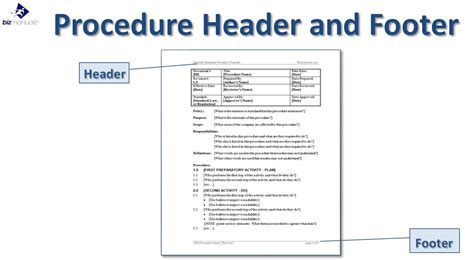 standard of procedure template standard operating procedure template business