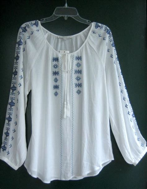 Embroidery White Tops 106 best peasant blouse images on peasant