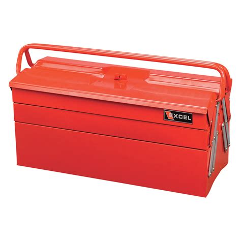 tool box excel 20in cantilever toolbox model tb122b red