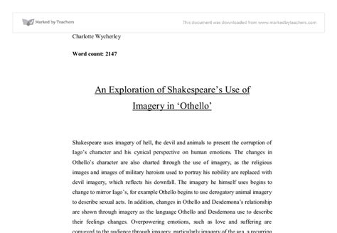 Othello Essays On Othellos Character by Outsider Essays And Speeches Summary Study Guide