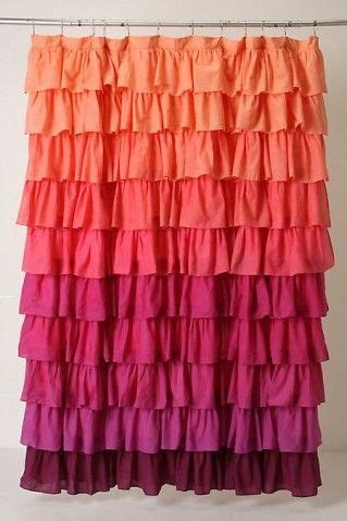 Coral Ruffle Curtains Gradient Orange Coral Magenta To Plumb Ruffled Curtain Spaces Ruffles Pinterest To
