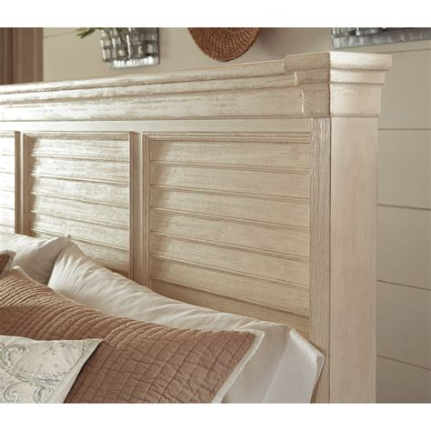 louvered headboard king louvered headboard panel bed by signature design by