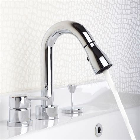 Bathtub Pull Out Faucet | designer pull out widespread modern bathroom faucets