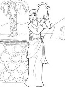 at the well coloring page rebekah drawing water genesis 24 by likesototally