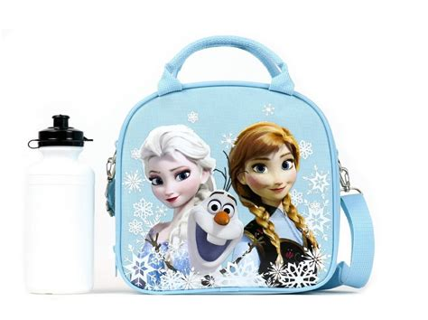 Snow Frozen Lunchbox disney frozen lunch box carry bag with shoulder and water bottle
