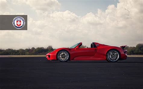 porsche 918 red red porsche 918 spyder with dark clear hre wheels gtspirit