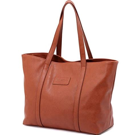 Tote Bag Pu Leather Import zmsnow pu leather large tote purse handbags shoulder import it all