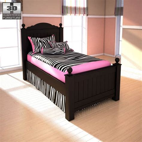 ashley furniture twin bed ashley jaidyn twin poster bed 3d model humster3d
