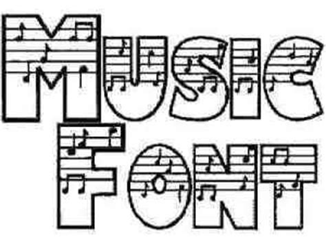 printable music font music font free clipart best