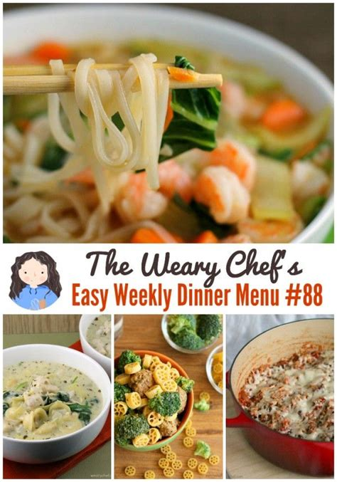 soup kitchen menu ideas easy weekly dinner menu 88 one pot recipes