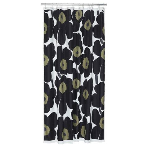 marimekko curtains marimekko black unikko long polyester shower curtain