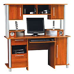Computer Desk With Usb Hub Empire Computer Desk With Hutch And Usb Hub 60 58 H X 59 58 W X 25 12 D Expert Plumsilver By