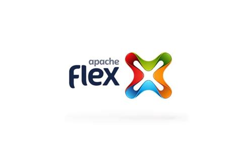web design logo on right side apache flex banding and web design concept