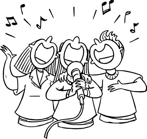 people singing 3rd grade coloring page wecoloringpage