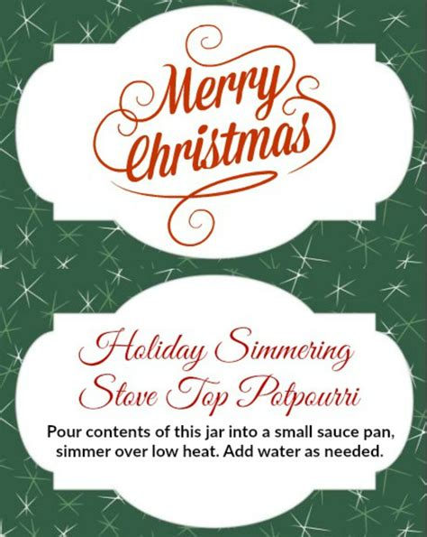 printable christmas potpourri tags diy holiday gift jars cranberry orange stove top potpourri