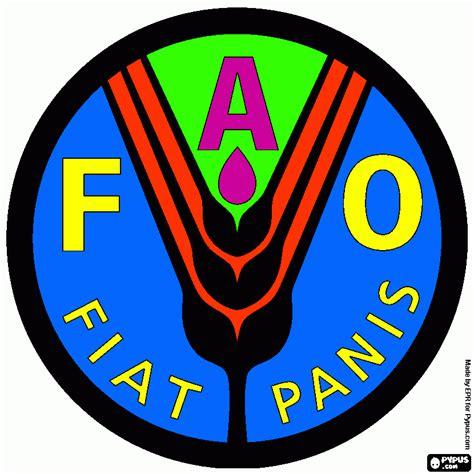 FAO logo, Food coloring page, printable FAO logo, Food