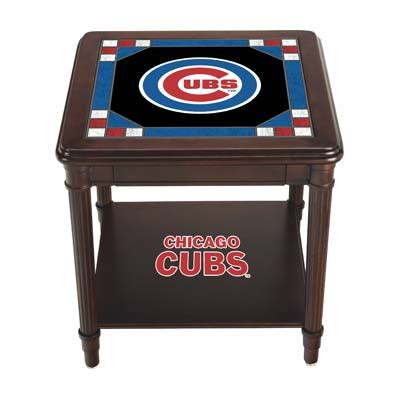 chicago cubs table chicago cubs stained glass end table the danbury mint
