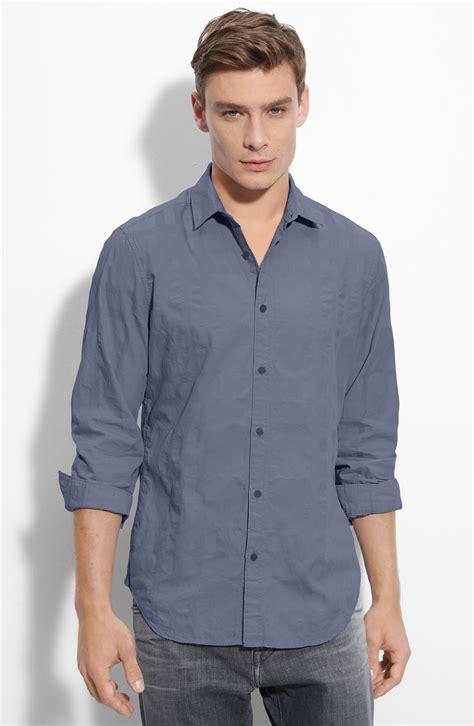 jacquard pattern shirt burberry trim fit jacquard pattern sport shirt in blue for