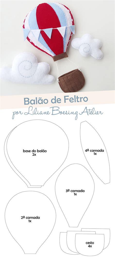 moldes gazeta do balao molde bal 227 o de ar quente de feltro liliane boesing