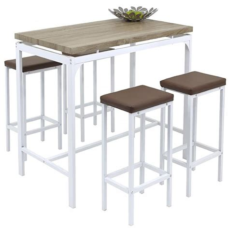 Breakfast Bar Table And Stools Angie Counter Bar Set 5 Pc Breakfast Table And Chairs Kitchen Pub Dining Stools