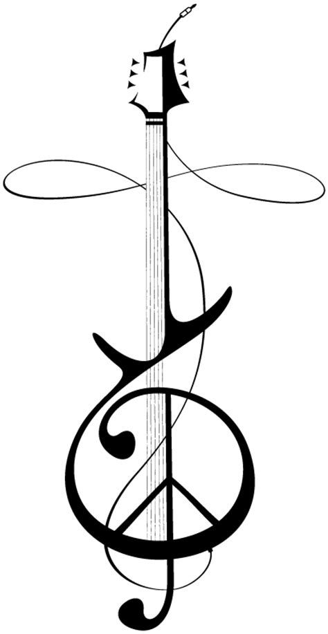 music tattoo png treble clef peace sign tattoo clipart best